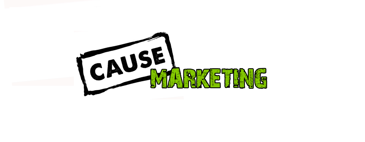 Cause stamp and marketing inscription