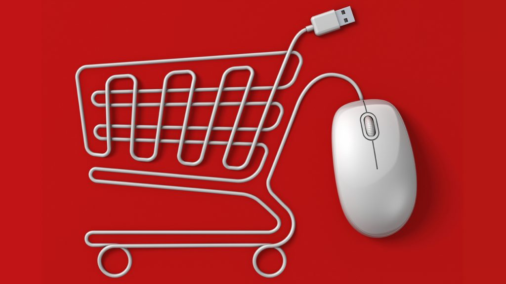 Shopping trolley and computer mouse