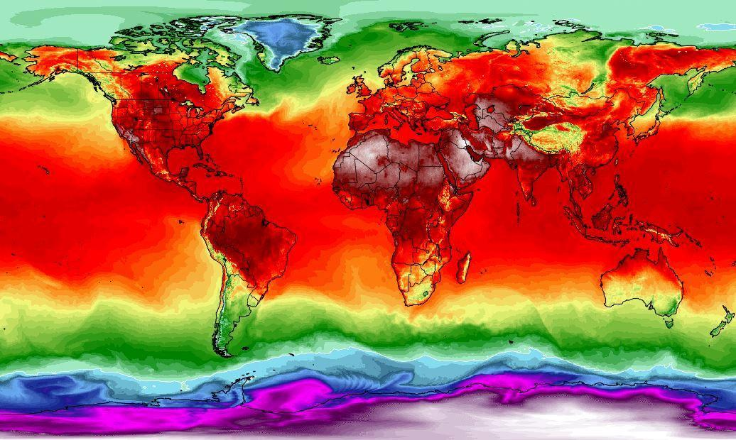 The heat map of our planet.