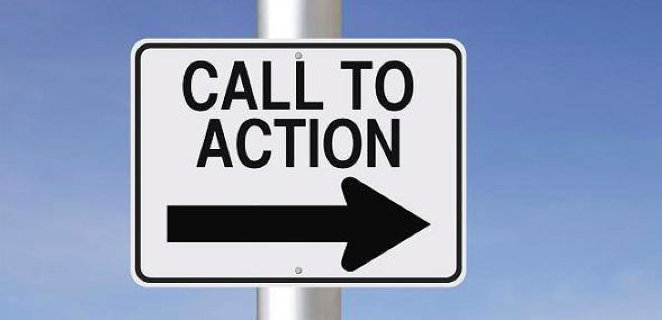 "Big ""call to action"" sign"