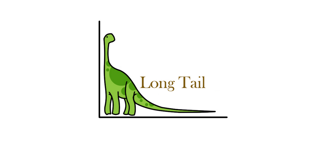 Dinosaur with a long tail
