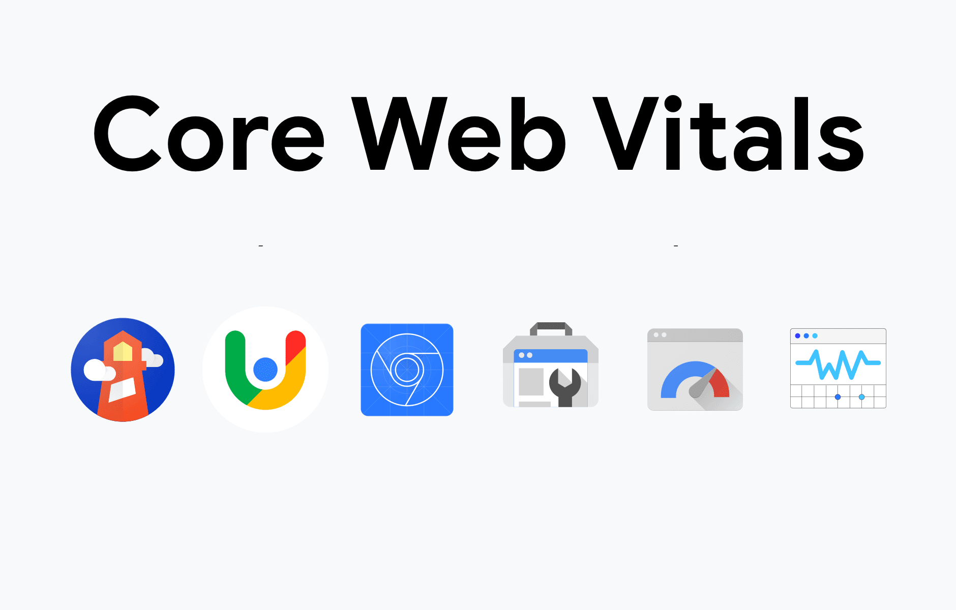 Core Web Vitals inscription and Google icons