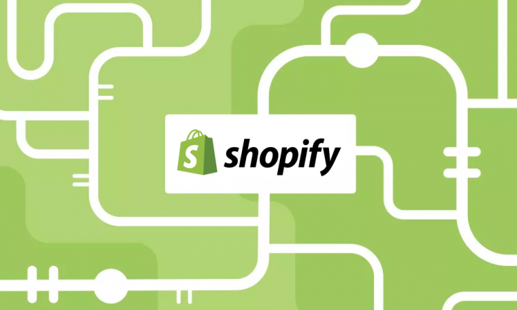 Shopify logo on a green background